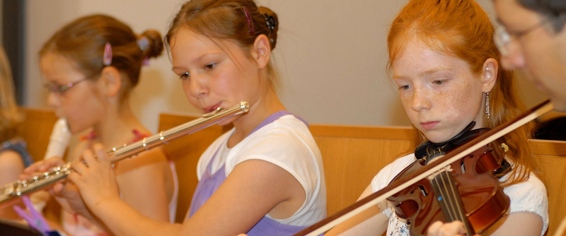 Violin and transverse flute lessons in the music school Bertheau & Morgenstern
