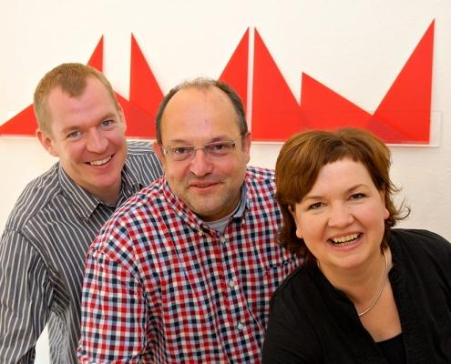Die Leitung der Musikschule (v.l.): Martin Behm, Andreas Bertheau, Katrin Morgenstern