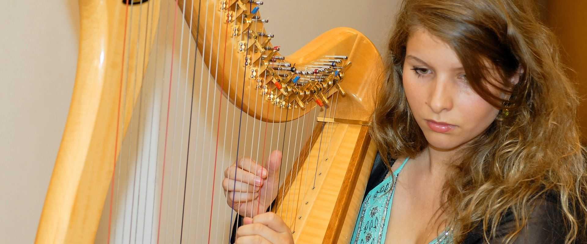 Harfenunterricht in der Musikschule Bertheau & Morgenstern