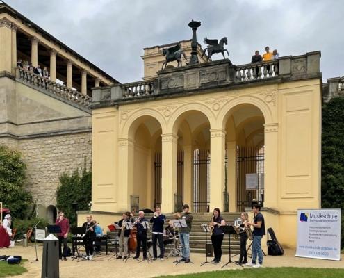 Die BigBand der Musikschule auf dem Pfingstberg in Potsdam am 05.09.2021