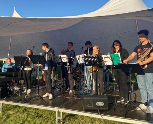 Die BigBand der Musikschule auf dem Stadtteilfest in Bornstedt am 04.09.2021