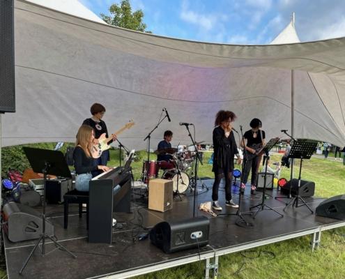 Girlband Forbidden Lie auf dem Stadtteilfest in Bornstedt am 04.09.2021