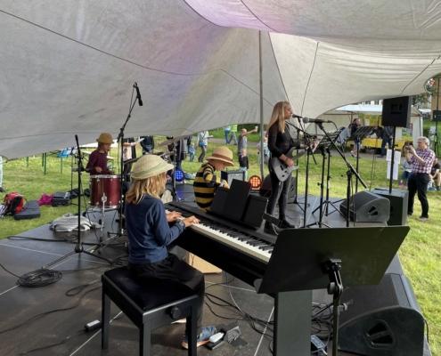 Miniband auf dem Stadtteilfest in Bornstedt am 04.09.2021
