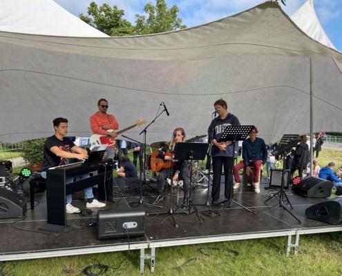 Schüler Lehrer Band auf dem Stadtteilfest in Bornstedt am 04.09.2021